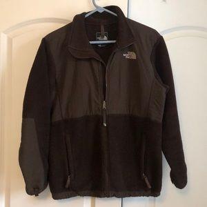 Girl's XL brown north face Denali jacket